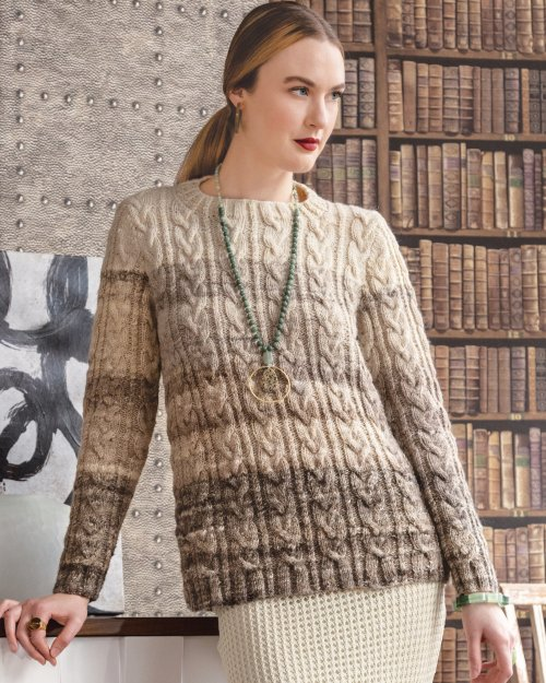 Noro Gradient Cable Pullover