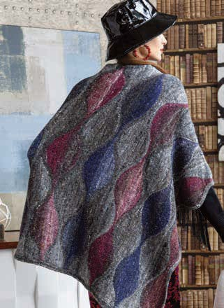 Noro Wave Pattern Poncho