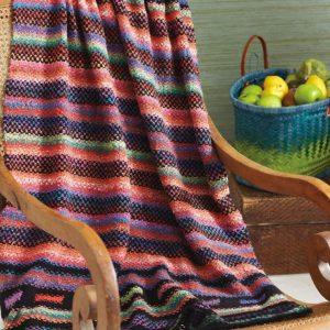 Woven Stitch Blanket in Taiyo-Cozy Soft Chunky
